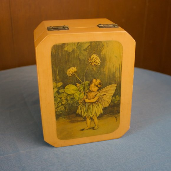 Vintage Other - Cicely Mary Barker: Fairy Jewelry Wooden Box